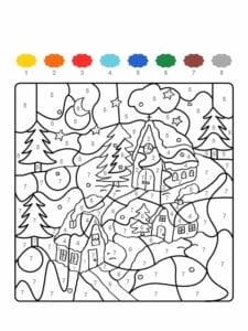 colorir com numero casa