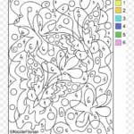 colorir com numero jardim