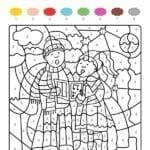 colorir com numero natal