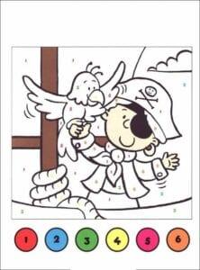 colorir com numero pirata