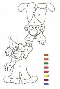 Colorir por números 1