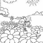 desenho da primavera para colorir educacao infantil
