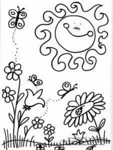 imagens da primavera para colorir