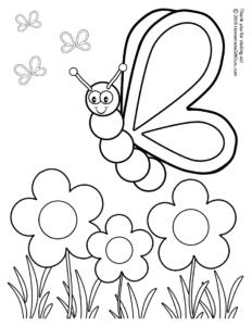 insetos da primavera para colorir