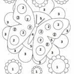 jogo de colorir por numero borboleta