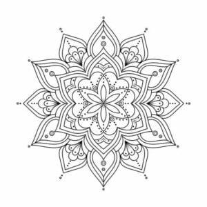 mandala de estrela para colorir