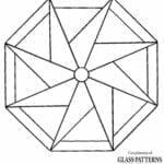 mandala geometrica para colorir