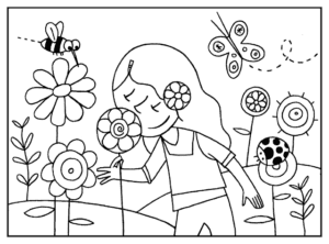primavera para colorir