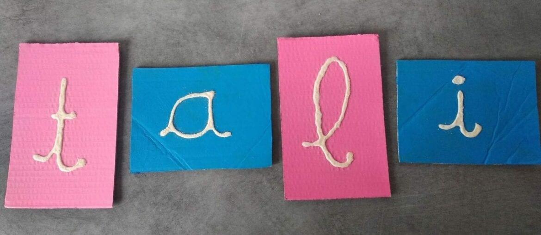 Como fazer letras de lixa Montessori 06