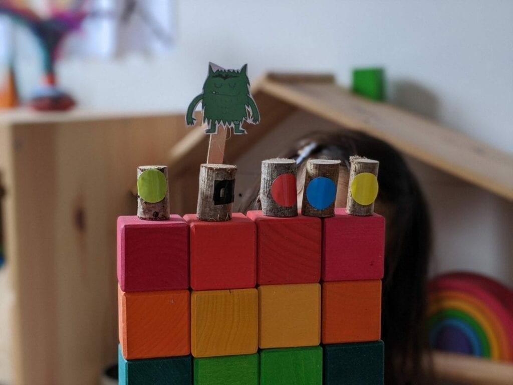 Fantoche de papel no palito 06