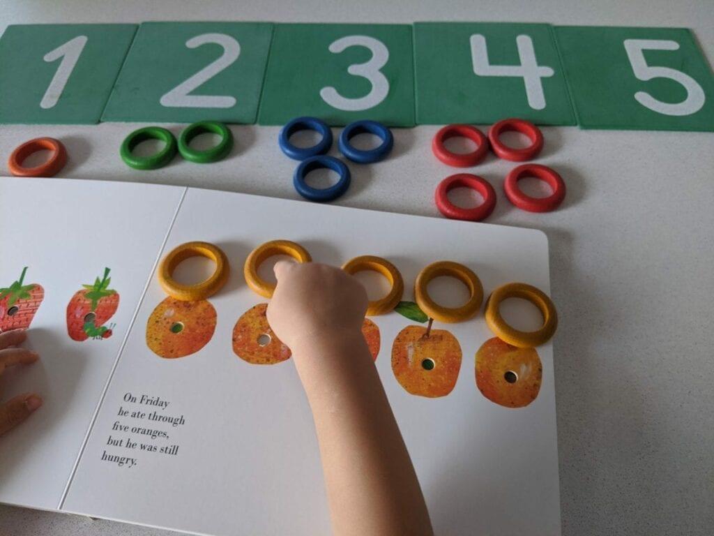 atividade educacao infantil lagarta comilona