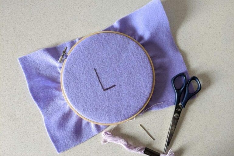 costurar letras de feltro