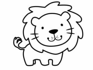 desenho para colorir leao