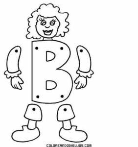 desenhos com a letra b para imprimir