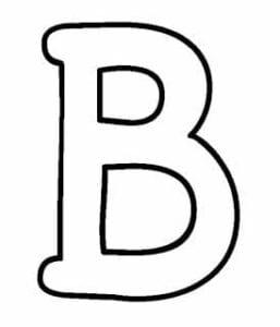 letra b bastao para colorir
