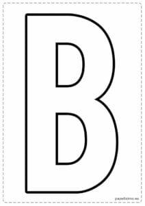 letra b maiuscula para imprimir