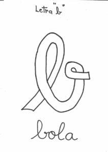 letra b para pintar