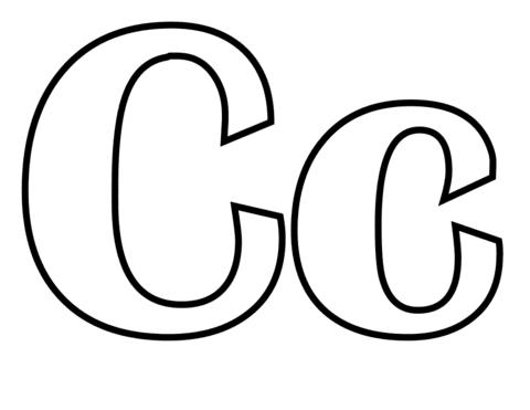 letra c para imprimir