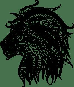 mandala de leao para pintar