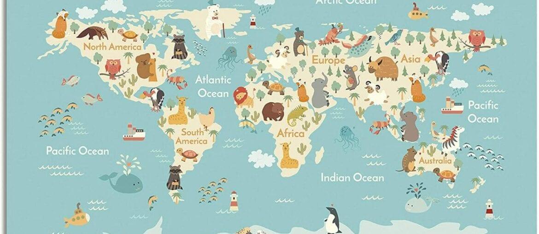 mapa mundi animal