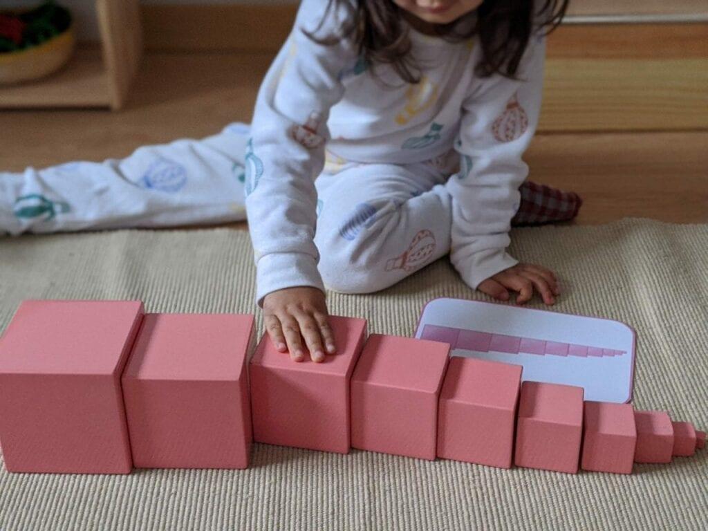 torre rosa montessoriana para imprimir 10