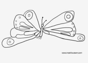 uma lagarta comilona para pintar