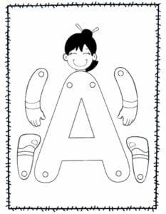 abecedario para recortar e montar a