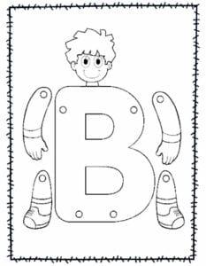 abecedario para recortar e montar b