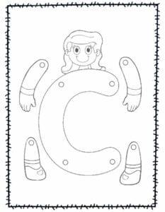 abecedario para recortar e montar c
