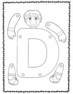 abecedario para recortar e montar d