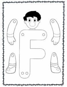 abecedario para recortar e montar f