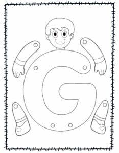 abecedario para recortar e montar g