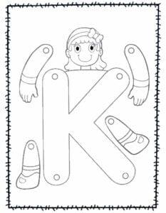 abecedario para recortar e montar k