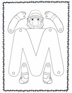 abecedario para recortar e montar m