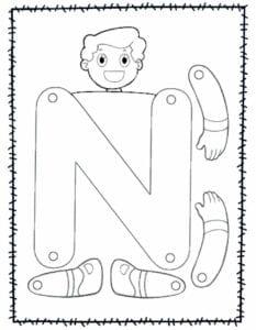 abecedario para recortar e montar n