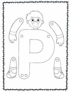 abecedario para recortar e montar p
