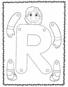 abecedario para recortar e montar r