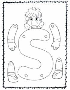 abecedario para recortar e montar s