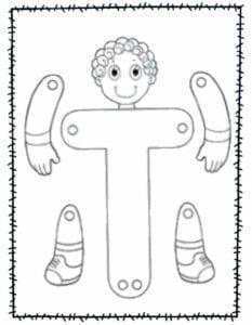 abecedario para recortar e montar t