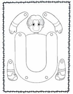abecedario para recortar e montar u