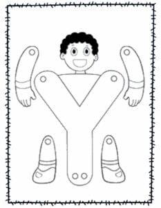 abecedario para recortar e montar y
