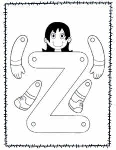 abecedario para recortar e montar z