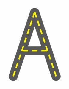 alfabeto maiusculo letra a