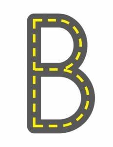 alfabeto maiusculo letra b