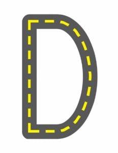 alfabeto maiusculo letra d