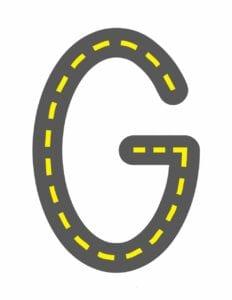 alfabeto maiusculo letra g