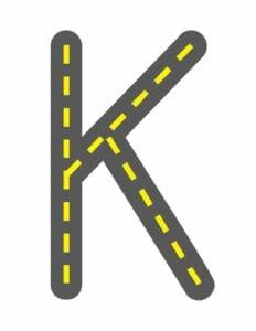 alfabeto maiusculo letra k