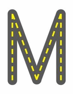 alfabeto maiusculo letra m
