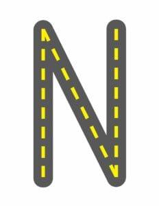 alfabeto maiusculo letra n