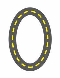 alfabeto maiusculo letra o